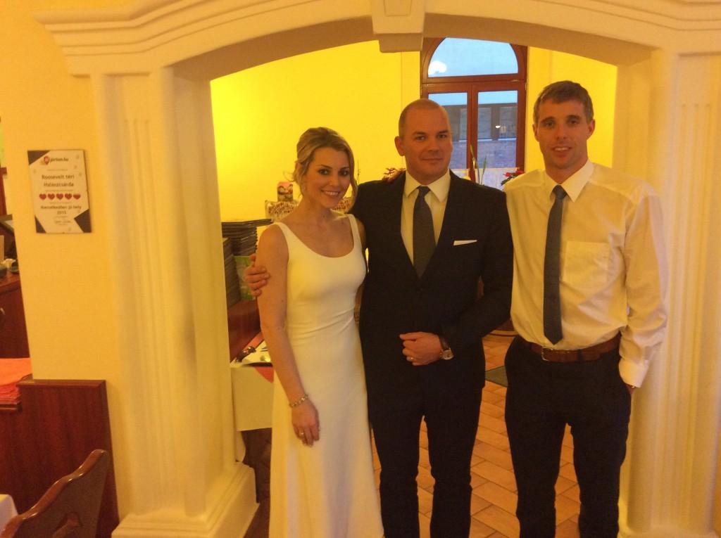 Balázs és Natashia esküvőjén